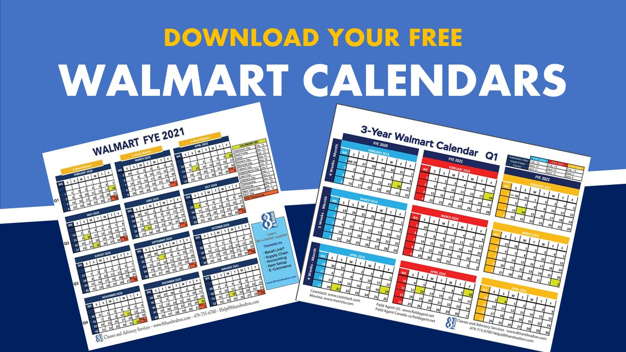 Walmart Fiscal Year Calendar - Free Download